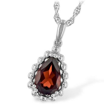 "Ben Garelick Pear Cut Garnet ""Bubble"" Pendant"