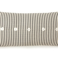 French Laundry Home, Ticking 10x20 Cotton Pillow, Black, Decorative Pillows