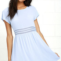 Funky Fresh Periwinkle Mesh Dress