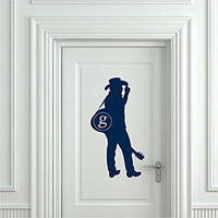 Garth Brooks Silhouette with Cowboy Hat and Guitar Vinyl Wall Words Decal Sticker Graphic