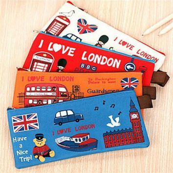 Fabric London Pencil Case
