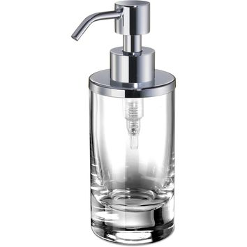 Addition Clear Glass Small Table Pump Liquid Soap Lotion Dispenser