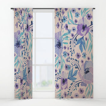 "Window curtains - Single, Double, Panel, 50""x84"" each, Home, Decor, Bedroom, Kitchen, Style, Pink, Purple, Gift, Designer, Abstract, Modern"