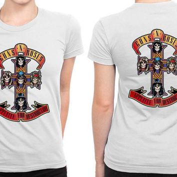 DCCKG72 Guns N Roses B 2 Sided Womens T Shirt