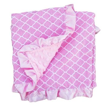 Pink Moroccan Pink Minky Blanket