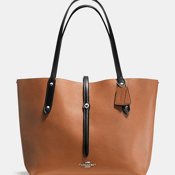 COACH MARKET TOTE IN REFINED PEBBLE LEATHER | Dillards