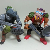 Teenage Mutant Ninja Turtles BEBOP AND ROCKSTEADY Soft Head TMNT