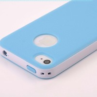 Pandamimi Dexule Light Blue White Fashion Sweety Girls TPU, PC 2-Piece Style Hard Case Cover for iPhone 4 4S with Screen Protector:Amazon:Cell Phones & Accessories