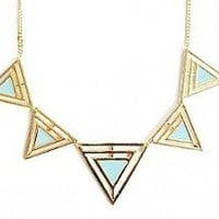 Mint Green Triangle Necklace from Heartblues