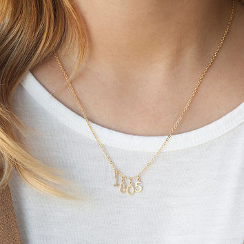 Remember the date necklace, Gold number necklace, Numerology necklace, Birthday gift jewelry, Anniversary necklace,