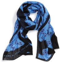 Women's MARC BY MARC JACOBS 'Defaced Floral' Modal & Silk Scarf
