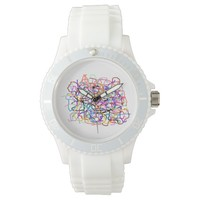 """loose threads"" abstract wrist watch"