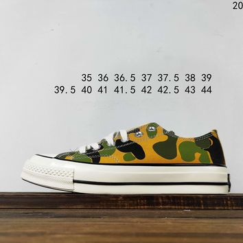 Kuyou Fa19630 Converse 1970s Camouflage Low Top Canvas Shoes