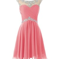 Dresstells Short Prom Dresses Sexy Homecoming Dress for Juniors Birthday Dress Red Size 8
