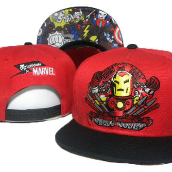 TokiDoki Marvel Iron Man Red Snap-back Cap for Adults