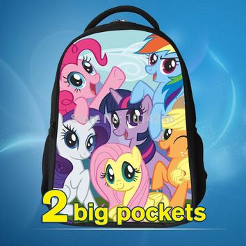 2017 princess backpack with my little pony cartoon design school bag for kid my little pony bag gift for kid my little pony back