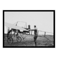 Harriet Quimby in Her Airplane 1911 Print from Zazzle.com
