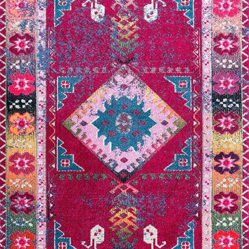 9348 Purple Medallion Oriental Area Rugs