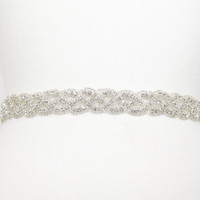 Crystal bridal wedding gown sash by GlamHouse on Etsy