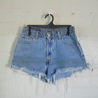 High Waisted Levi Shorts Women Levi Cut Off Shorts 90s High Waist Levi Cutoff Shorts Cut Off Jean Shorts High Waist Shorts Blue Jean Shorts