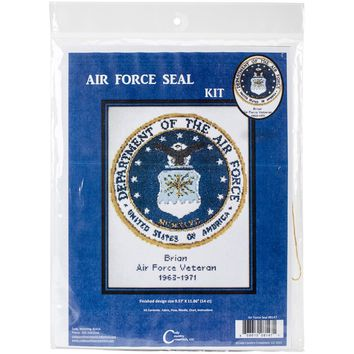 "12""X9.5"" 14 Count U.S. Air Force Emblem Counted Cross Stitch Kit"