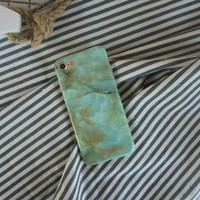 Distinctive green marble phone case for iPhone 7 7plus 6 6S 6plus 6Splus 1107JM01