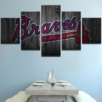 Atlanta Braves Baseball Canvas
