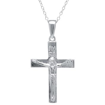Sterling Silver Crucifix Pendant Necklace
