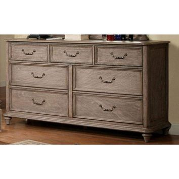 Effortlessly Stylish Transitional Style Dresser, Rustic Natural Brown By Casagear Home