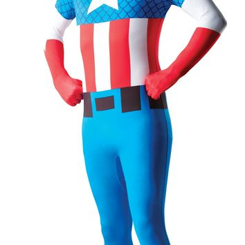 Rubies Costume Mens Marvel Universe Captain America Adult 2Nd Skin Costume X Large