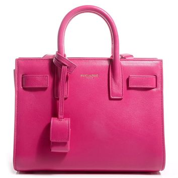 Saint Laurent Fuchsia Classic Small Sac De Jour Satchel 324823