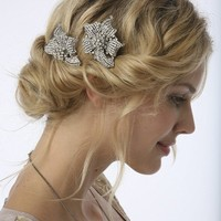 BACK IN STOCK LILY Encrusted Lily Comb or by UntamedPetals