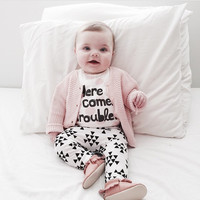 New summer baby boy clothes cotton Fashion letters printed T-shirt+trousers 2pcs baby boys clothing set infant 2pcs suit