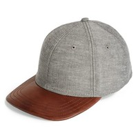 rag & bone Leather Brim Baseball Cap | Nordstrom