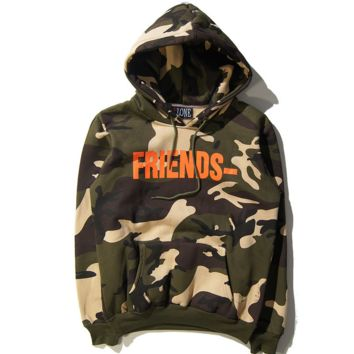 Unisex Camo Friends Sweatshirts Hoodies