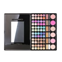 78 Colors Eyeshadow & Blush Palette Glitter Matte Earth Tone Makeup Set Gift