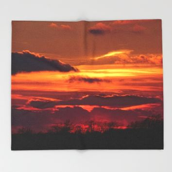 All the Natural Beauty Throw Blanket by Theresa Campbell D'August Art