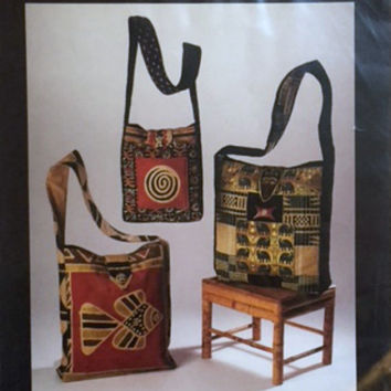 Tote Bag Sewing Pattern Quilted Fabric Shoulder Purse Carryall Handbag Baggit NM269 New Uncut