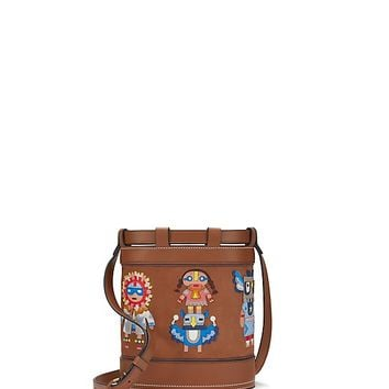 Tory Burch Kachina Doll Appliqué Bucket Bag