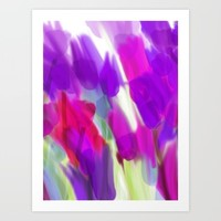 Meadow Flowers Abstract 2 Art Print by Jen Warmuth Art And Design