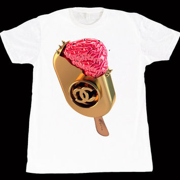 Chanel Golden Ice Cream Bar T-shirt