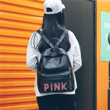 PINK 2018 Women Backpack for School Teenagers Girls Boys Bags Sequins Cute Back Pack Canvas Printing Backpacks Travel