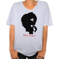 Natural afro chick illustration shirts