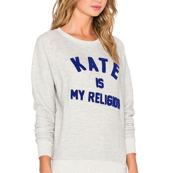 Eleven Paris Kate is My Religion Pullover in Light Grey
