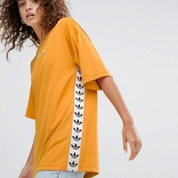 adidas Originals Tnt Tape Tee In Yellow at asos.com