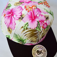 Tropical Paradise SnapBack Hat: Pink