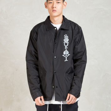 Stussy Black Player Coaches Jacket | HBX.