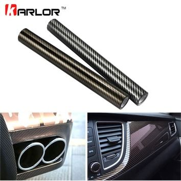 10cm*100cm 2D High Glossy Carbon Fiber Vinyl Wrap Film Automobiles Car Motorcycle DIY Decorative Sticker Wrapping Covering Film