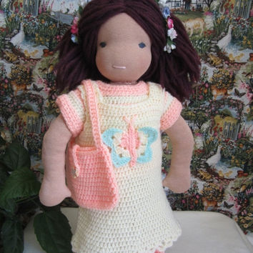 """ON SALE - 10% OFF Crochet  set for 16-18"""" Waldorf  and similar sizes dolls"""