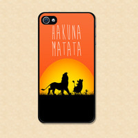 Iphone case Iphone 4 case Iphone 5 case Samsung Galaxy S3 Case Hakuna Matata Iphone case lion king cool awesome Iphone 4s case